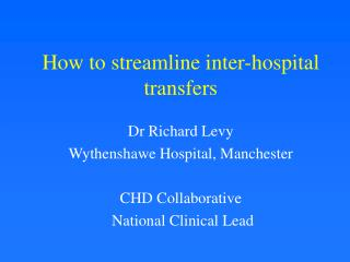 How to streamline inter-hospital transfers