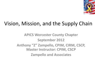 Vision, Mission, and the Supply Chain