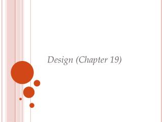 Design (Chapter 19)