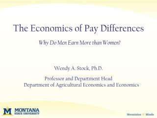 The Economics of Pay Differences