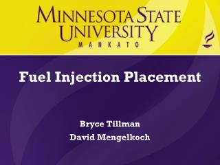 Fuel Injection Placement