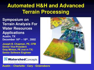 Automated H&H and Advanced Terrain Processing