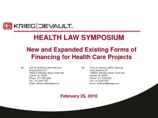 HEALTH LAW SYMPOSIUM
