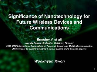 Significance of Nanotechnology for Future Wireless Devices and Communications