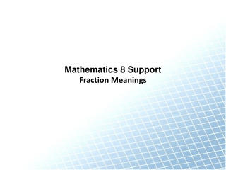 Fraction Meanings