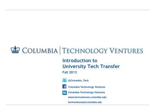 Introduction to  University Tech Transfer