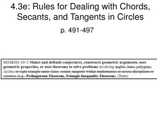 4.3e: Rules for Dealing with Chords, Secants, and Tangents in Circles