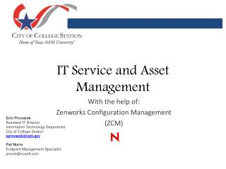 IT Service and Asset Management
