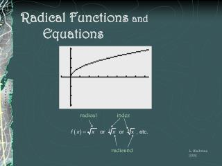 Radical Functions  and  			Equations