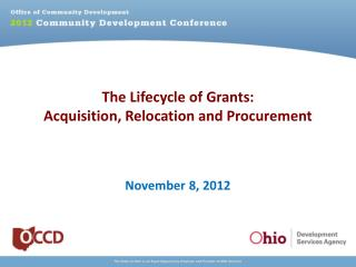 The Lifecycle of Grants: Acquisition, Relocation and Procurement