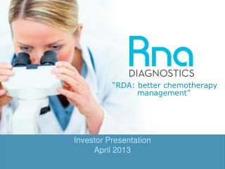 """RDA: better chemotherapy management"""