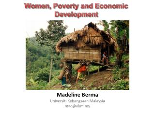 Women, Poverty and Economic Development