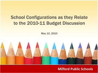 School  Configurations as  they  Relate to the 2010-11 Budget Discussion May 10, 2010