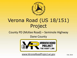 Verona Road (US 18/151) Project