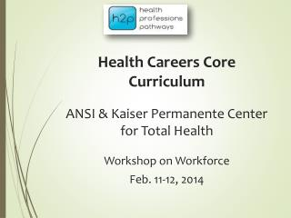Health Careers Core Curriculum