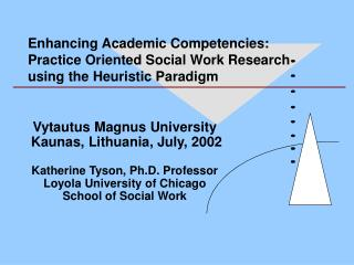 Enhancing Academic Competencies: Practice Oriented Social Work Research using the Heuristic Paradigm