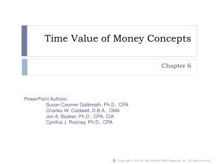 Time Value of Money Concepts