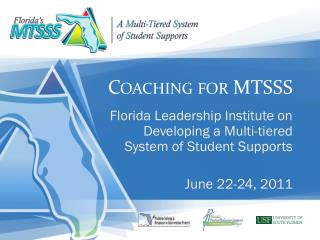 Coaching for MTSSS