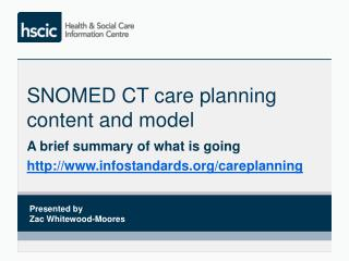 SNOMED CT care planning  content and model