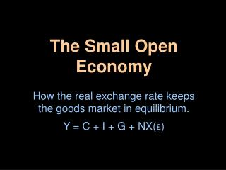 The Small Open Economy