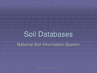 Soil Databases