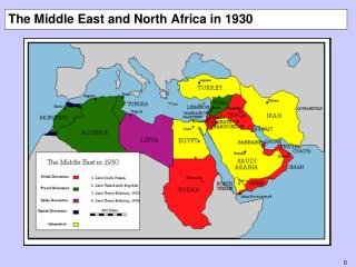 The Middle East and North Africa in 1930