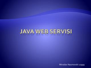 Java web  Servisi