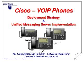 Cisco   VOIP Phones  Deployment Strategy    Unified Messaging Server Implementation