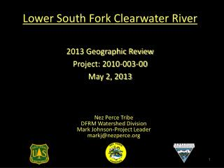Lower South Fork Clearwater River
