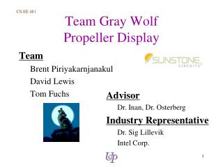 Team Gray Wolf Propeller Display