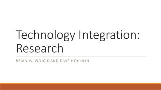 Technology Integration: Research