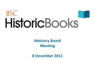 Advisory Board Meeting 8 December 2011