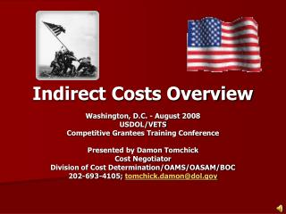Indirect Costs Overview