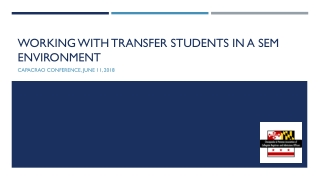 What do you know about transfer students