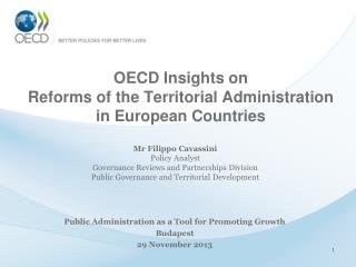 OECD Insights on Reforms of the Territorial Administration in European Countries