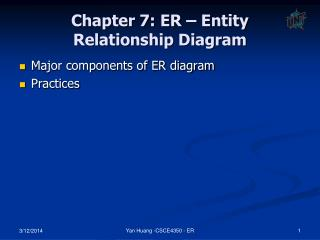 Chapter 7: ER – Entity Relationship Diagram