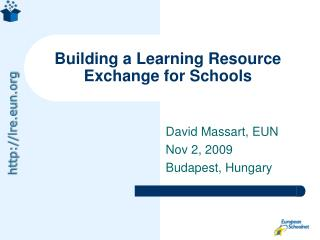Building a Learning Resource Exchange for Schools