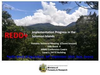 Implementation Progress in the Solomon Islands