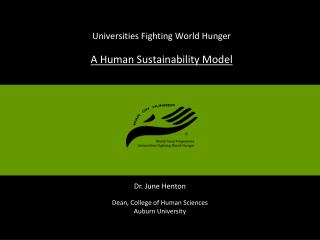 Universities Fighting World Hunger  A Human Sustainability Model