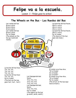 The Wheels on the Bus – Las Ruedas del Bus
