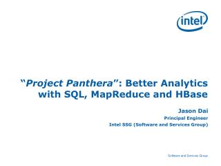 """ Project Panthera "":  Better Analytics with SQL, MapReduce and HBase"