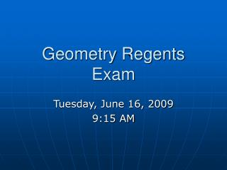 Geometry Regents Exam
