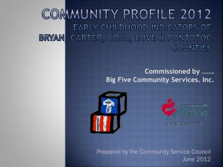 Commissioned by …….  Big Five Community Services. Inc.