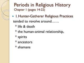 Periods in Religious History Chapter 1 (pages 14-22)