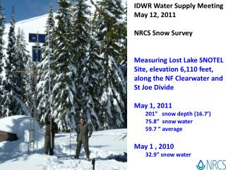 IDWR Water Supply Meeting May 12, 2011 NRCS Snow Survey