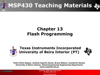 Chapter 13 Flash Programming