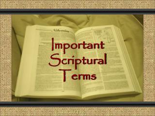 Important Scriptural Terms