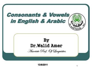 Consonants & Vowels in English & Arabic