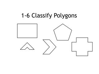 1-6 Classify Polygons