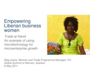 Empowering Liberian business women
